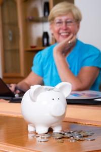 senior woman retirement plan