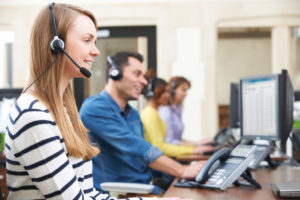 Female Customer Services Agent In Call Centre